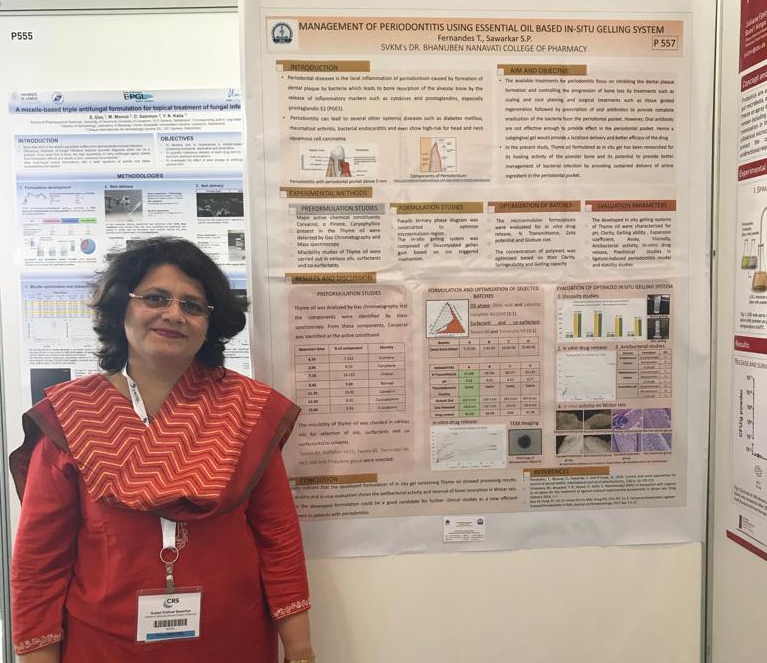 Dr. Sujata Sawarkar presented research paper at Controlled Release Society Annual Meeting & Exposition, Valencia, Spain.